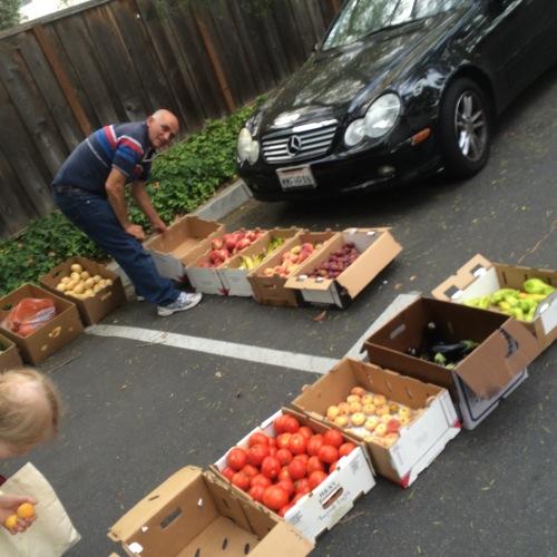 food on pavement