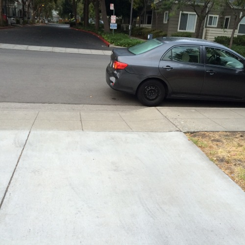 melanie blocking driveway overnight